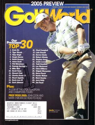 Ernie Els autographed 2005 Golf World magazine