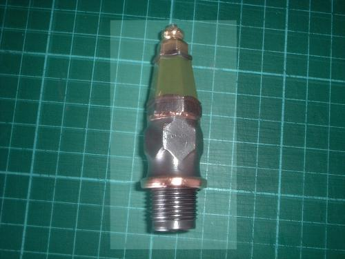 Splitdorf green hex spark plug