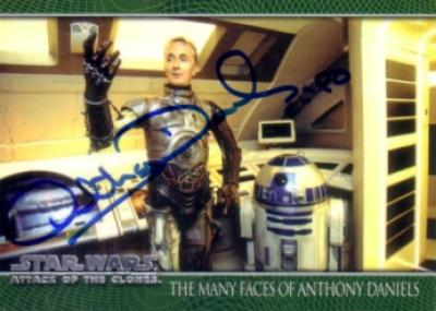 Anthony Daniels autographed Star Wars C3PO card