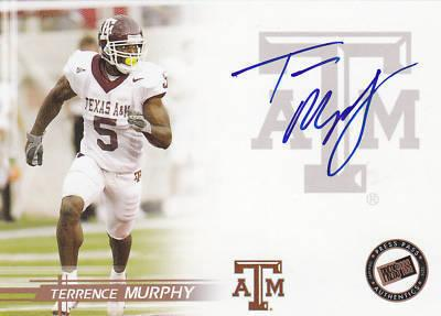 Terrence Murphy Texas A&amp;M certified autograph 2005 Press Pass card