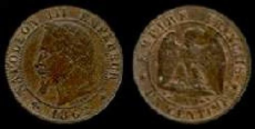 1 centime 1861-1870 (km 795)