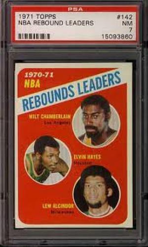 Basketball Card;   1970's Rebound leaders; CENTER