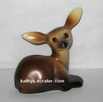 Roselane Pottery Fawn Laying Deer Animal Figurine