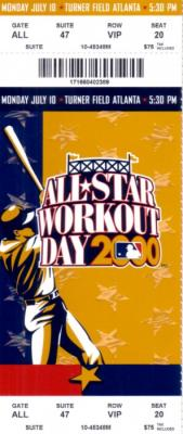 2000 MLB All-Star Workout Day &amp; Home Run Derby full ticket