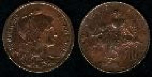 10 centime; Year: 1898-1921; (km 843)