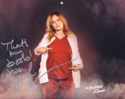 Malin Akerman autographed Children&#039;s Hospital calendar 8x10 photo
