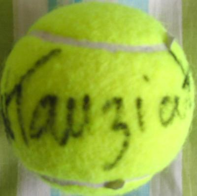 Natalie Tauziat autographed tennis ball