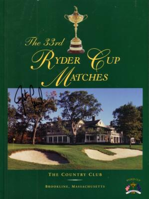 Justin Leonard autographed 1999 Ryder Cup program