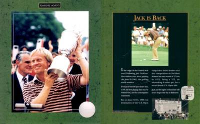 Jack Nicklaus Wins 1980 U.S. Open 8x10 golf photo MINT