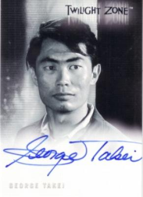 George Takei certified autograph Twilight Zone card