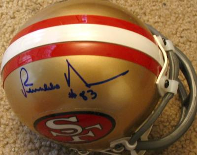 Renaldo Nehemiah autographed San Francisco 49ers mini helmet