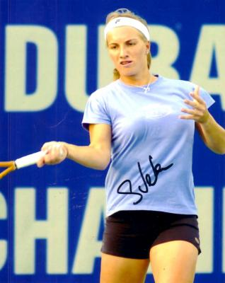 Svetlana Kuznetsova autographed 8x10 tennis photo