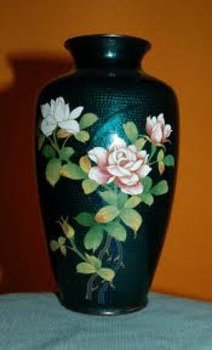 Antiques; Cloisonne. Vase.  Japanese.  1950