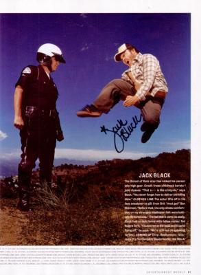 Jack Black autographed full page magazine photo
