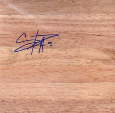 Cappie Pondexter autographed 6x6 basketball hardwood floor