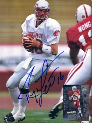 Ryan Leaf autographed Washington State Beckett Football photo