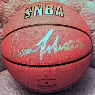 Oscar Robertson autographed NBA game basketball