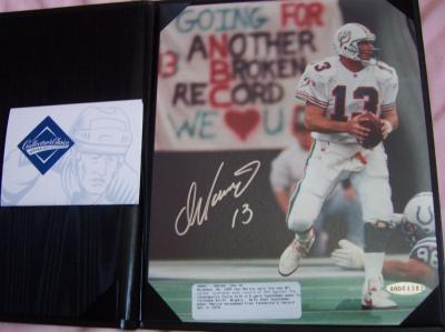 Dan Marino autographed Miami Dolphins 8x10 TD Pass #343 photo UDA
