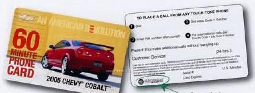 Custom Domestic Prepaid Phone Card (30 Us Minutes)
