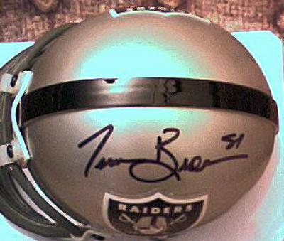 Tim Brown autographed Oakland Raiders authentic mini helmet