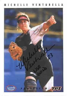 Michelle Venturella autographed 5x7 USA Softball color postcard