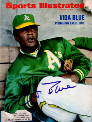 Vida Blue autographed Oakland A&#039;s 1972 Sports Illustrated