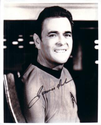 James Doohan autographed Star Trek vintage 8x10 black & white photo