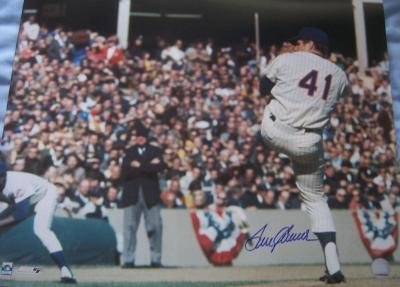Tom Seaver autographed Mets 16x20 poster size photo