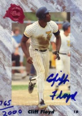 Cliff Floyd certified autograph 1991 Classic card