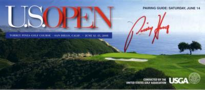 Padraig Harrington autographed 2008 U.S. Open pairings guide