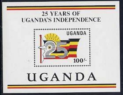 25 years independence s/s; Year: 1987