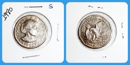 1980-S- Susan B Anthony Dollar