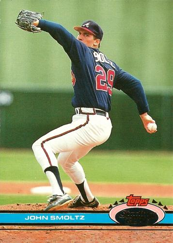 1991 Stadium Club #365 ~ John Smoltz