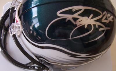 Sheldon Brown &amp; Michael Lewis autographed Philadelphia Eagles mini helmet