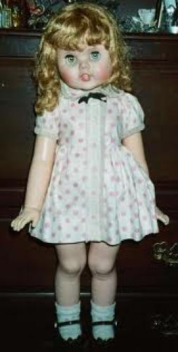 """Dolls; """"Toodles"""" is from the early 1960's and is well-known for eyes that follow"""