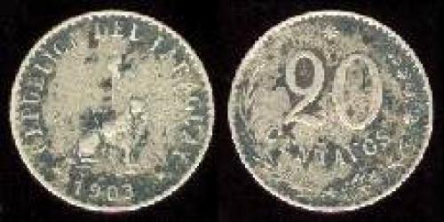 20 centavos 1903 (km 8)