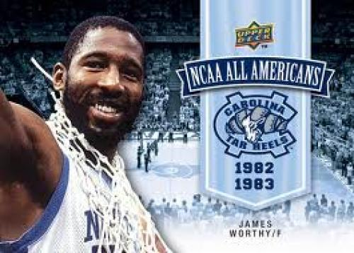 Basketball Card; James Worthy; North Carolina Basketball Cards; 1982-83