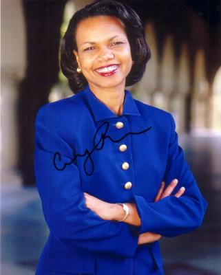 Condoleezza Rice autographed 8x10 photo