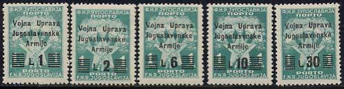 Postage due 5v; Year: 1947