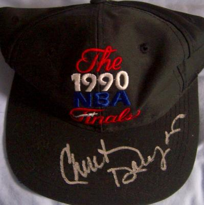 Chuck Daly (Pistons) autographed 1990 NBA Finals cap