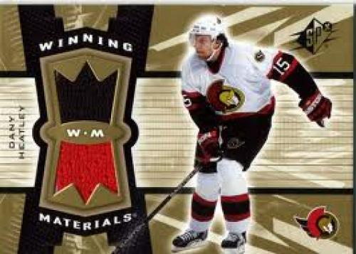 Memorabilia Cards. 2006-07 SPx Winning Materials Dany Heatley