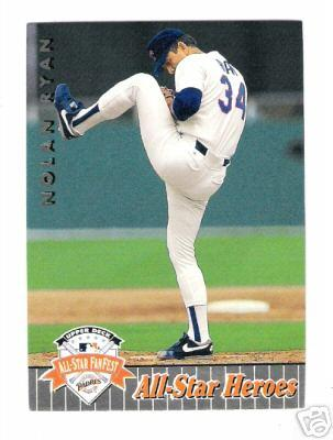 Nolan Ryan 1992 Upper Deck FanFest All-Star Heroes card #37
