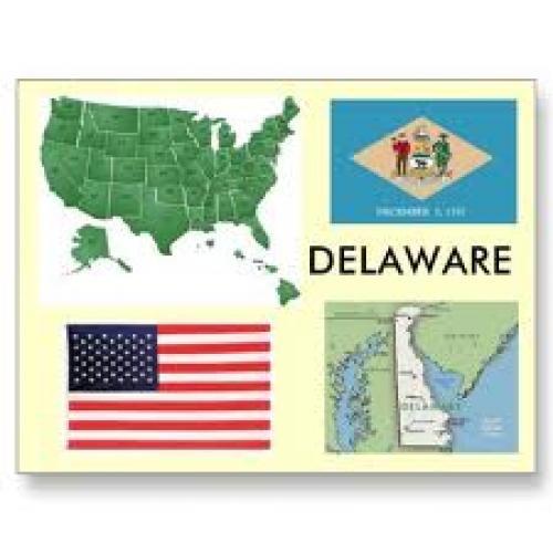 Postcards; Delaware, USA Postcards by archemedes. Delaware map