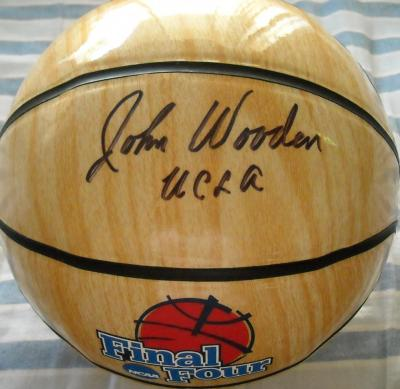 John Wooden (UCLA) autographed NCAA Final Four basketball