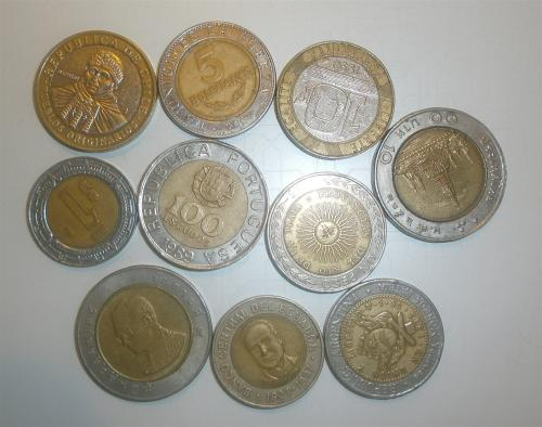 Bi-metalic 10 Coins collection