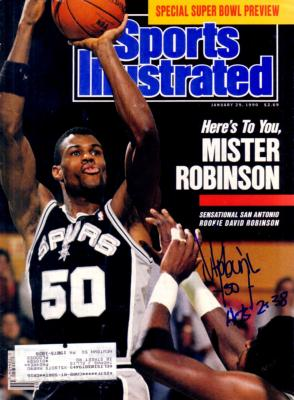 David Robinson autographed San Antonio Spurs 1990 Sports Illustrated