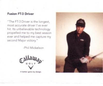 Phil Mickelson 2006 Callaway Golf card
