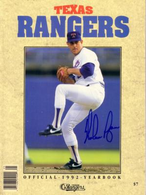 Nolan Ryan autographed Texas Rangers 1992 Yearbook