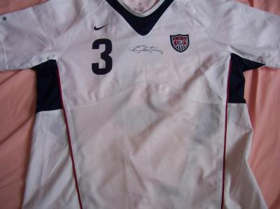 Christie Rampone autographed 2007 US Soccer Women's World Cup authentic Nike game issued jersey