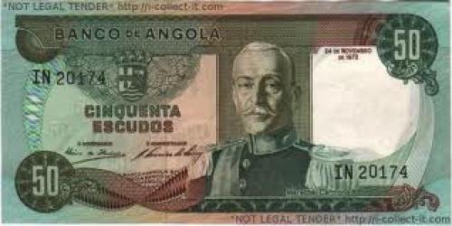 Banknotes; Angola 50 Escudo 1972